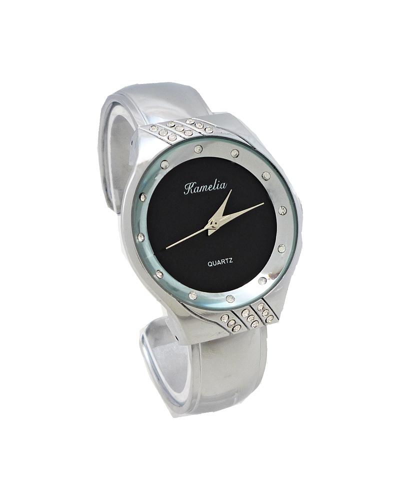Dámské hodinky Kamelia Luxo černo-stříbrné 588D 18b11f0927d