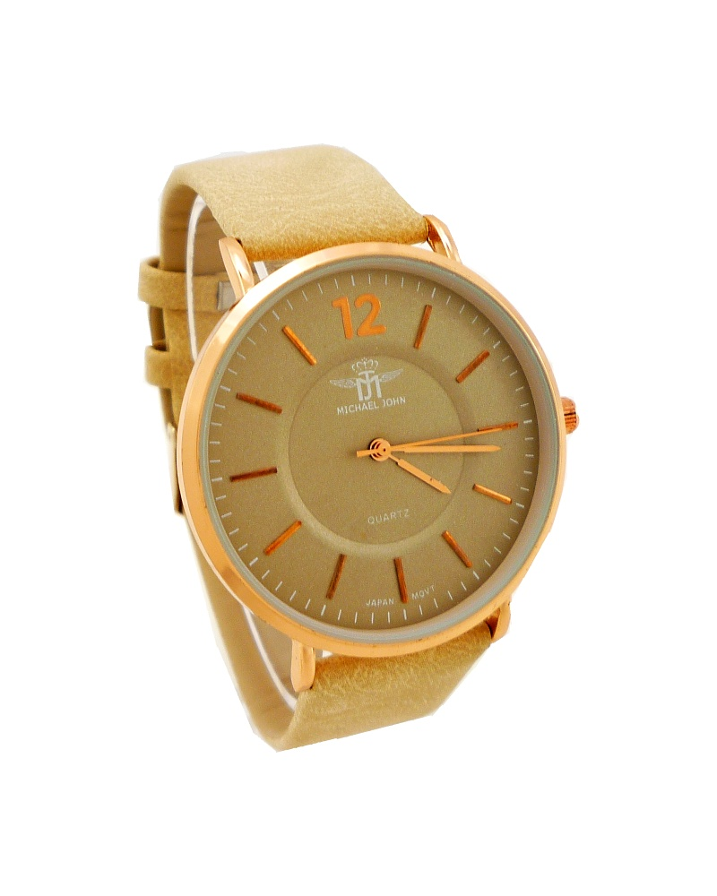 6879345d163 Dámské hodinky Michael John Minde bronzovo-béžové 738D