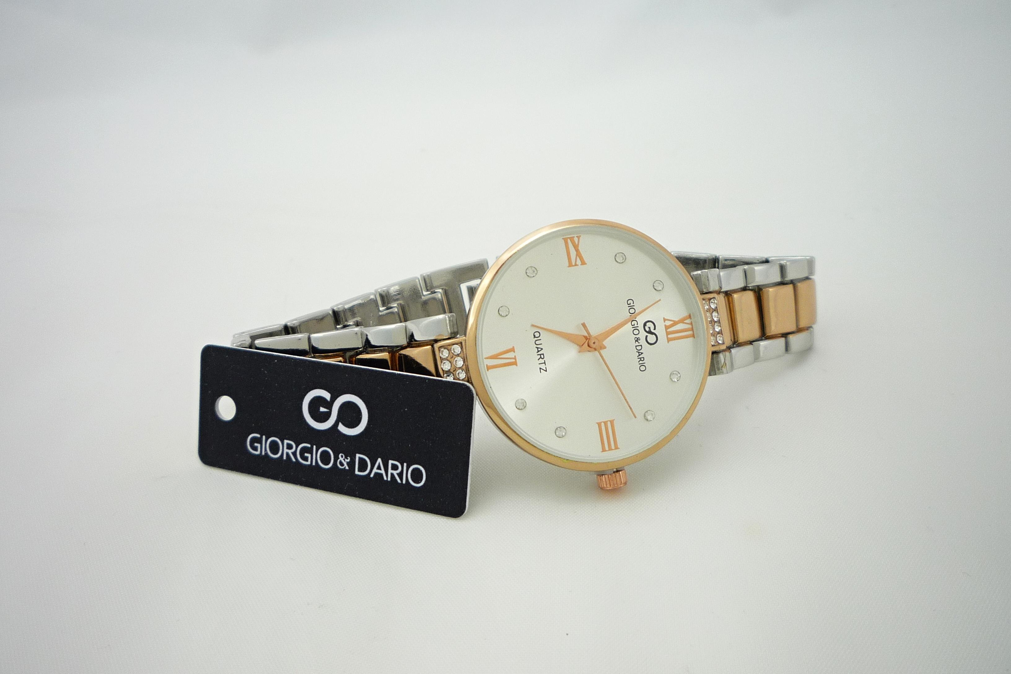 59b6e6805 Dámské hodinky Giorgio Dario Nolly stříbrno-bronzové 687ZD | thodinky.cz