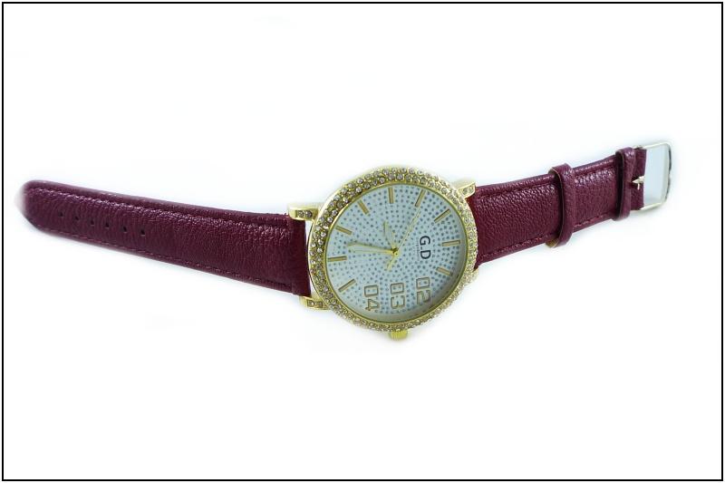 ec3047bf5 Dámské hodinky G.D zlato-červené 154D | thodinky.cz