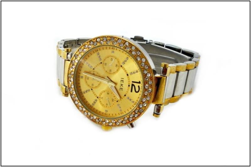 d6f4e80ee42 Dámské hodinky Ieke Extra zlato-stříbrné 250D