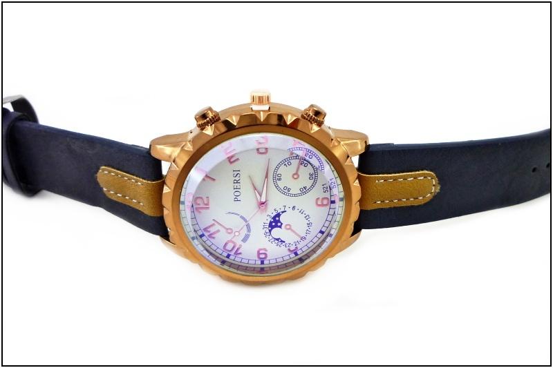 4ba3a890dba Pánské hodinky POERSI Modern černo-bronzové 150ZP