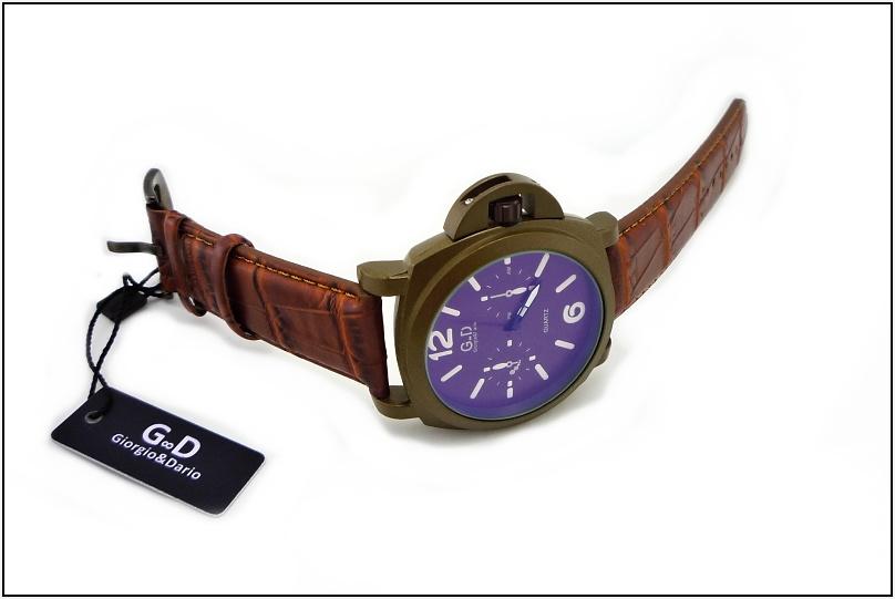 22bb6bd9a10 Pánské hodinky G.D Ground hnědé 114P