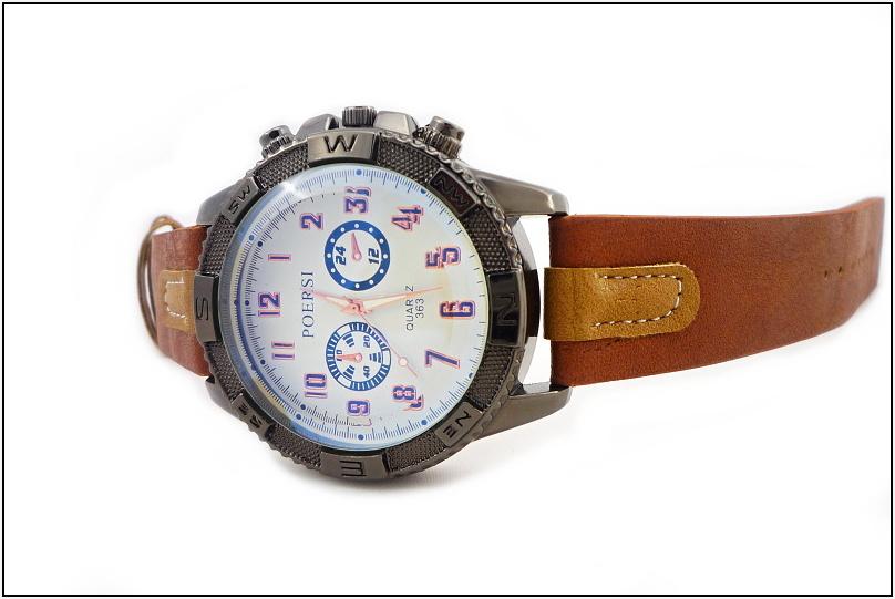 45dced9d2d8 Pánské hodinky Poersi Luxury hnědé 189ZP