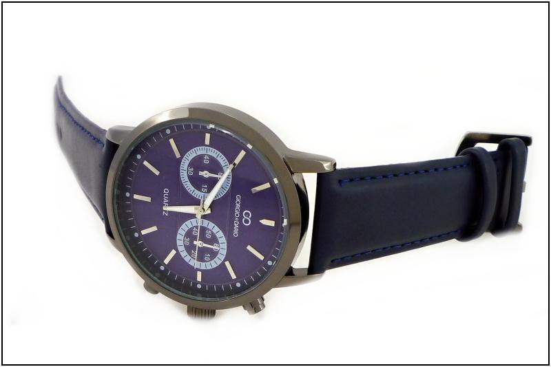 Pánské kožené hodinky Giorgio Dario Tally modré 346P  c4a9bc445c